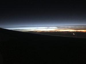 成田からホノルルの機内