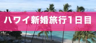 ハワイ新婚旅行1日目