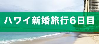 ハワイ新婚旅行6日目