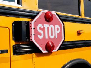 スクールバスのストップ