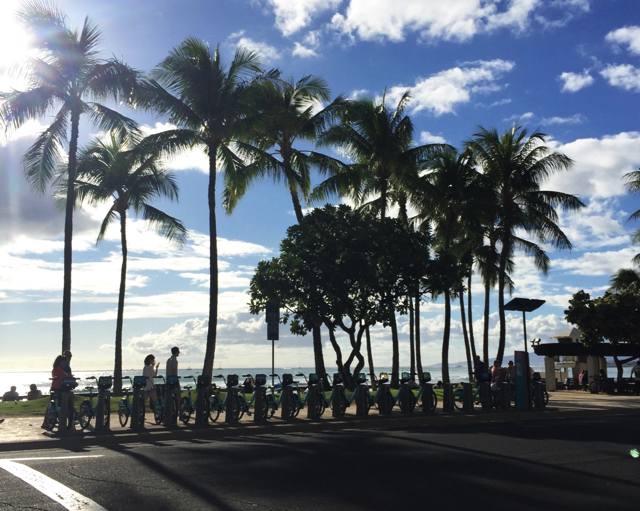 ハワイではbikiでの移動が便利です。
