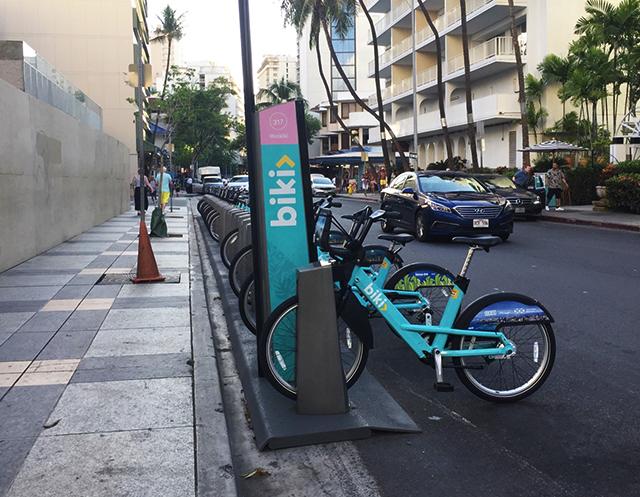 ハワイのレンタサイクルbiki